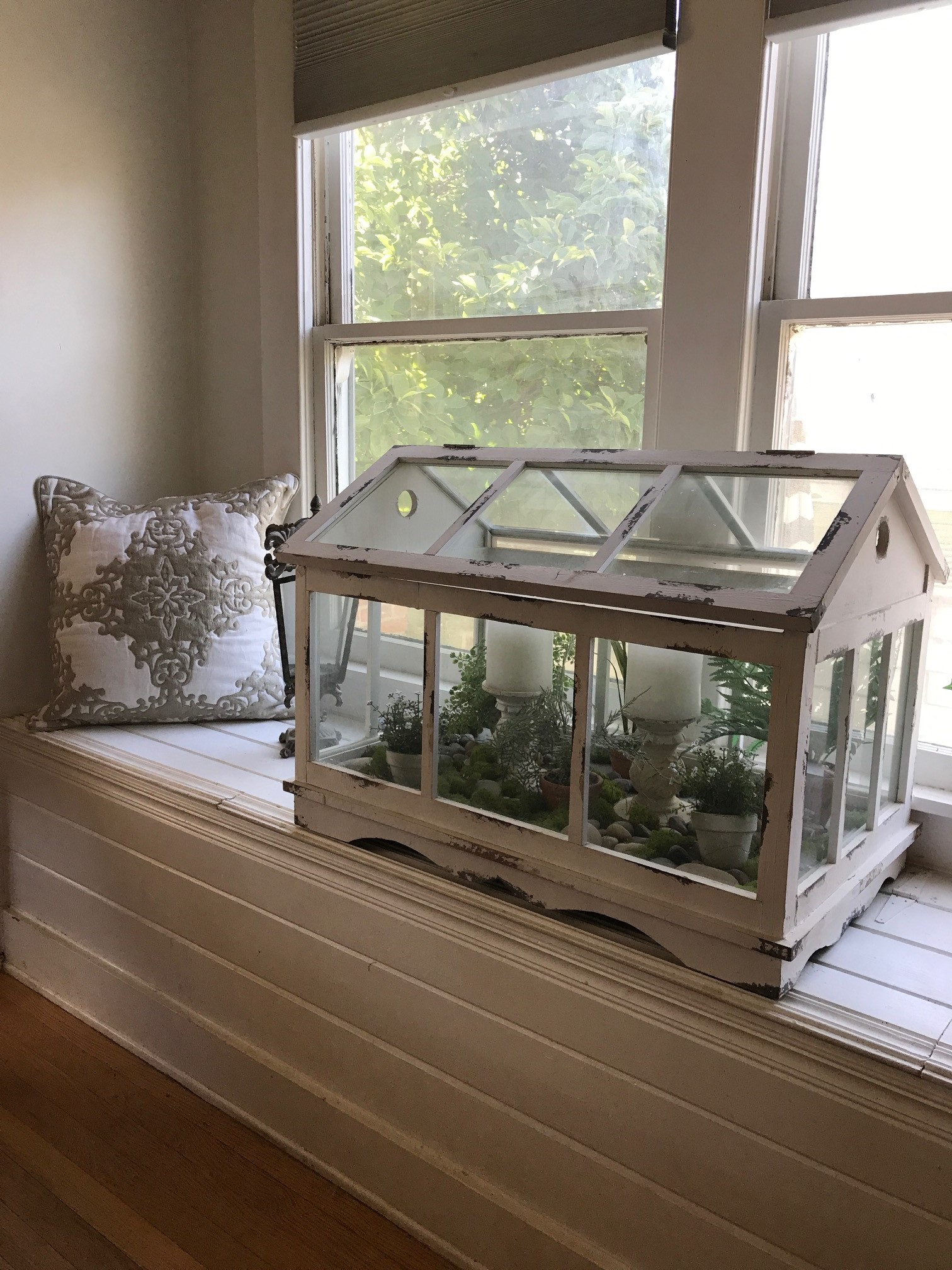 Vintage Inspired Wood And Glass Terrarium Our White Cottage